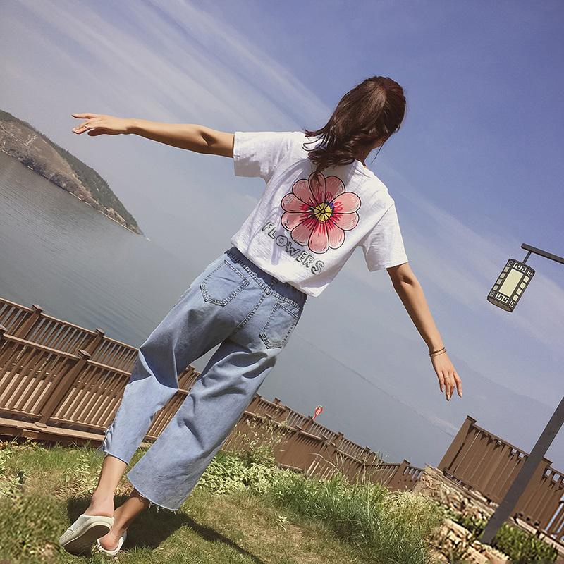 hiphop上衣服女2019新款韩版宽松嘻哈网红同款超火短袖t恤女潮ins(非品牌)