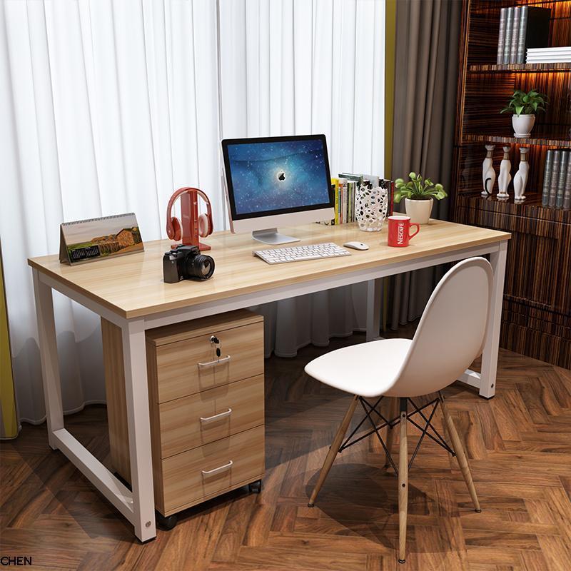 书桌子办工作卧室家用简易单人办工台式1米2卓子办公电脑小型员工