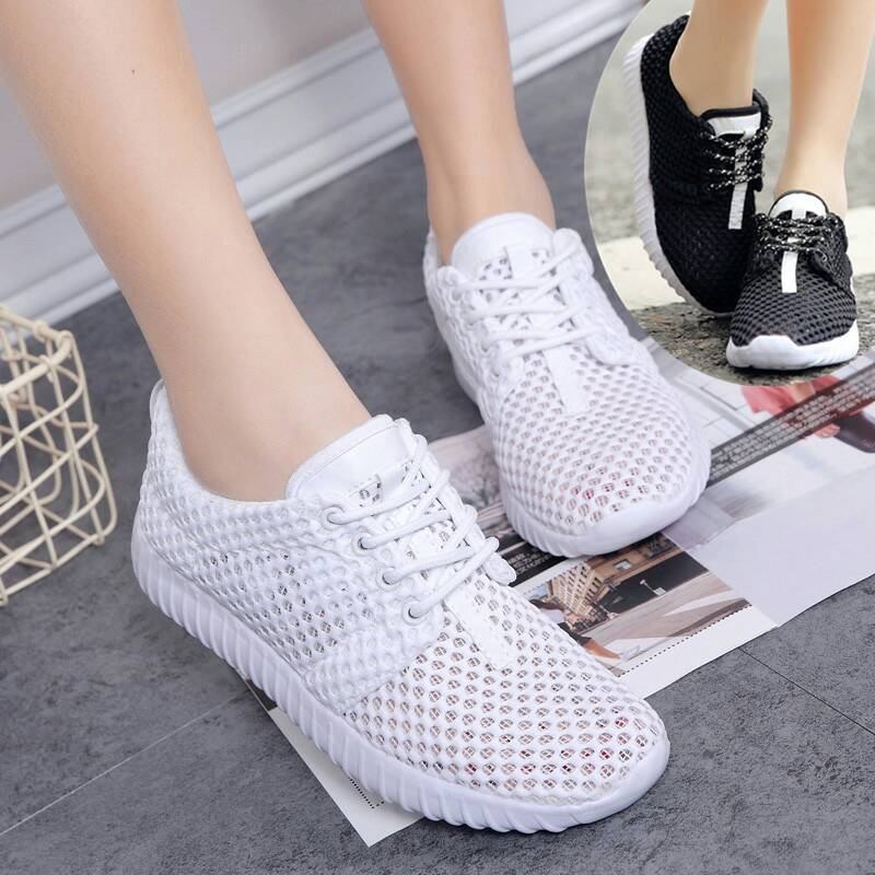 Summer womens shoes hollow mesh breathable mothers sandals Baotou sports shoes mesh running casual shoes