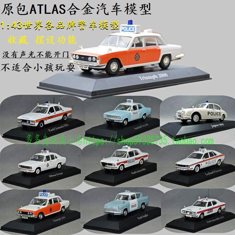Атлас, первоначально для 1:43 сплава модели автомобилей полиции во всем мире Форд VW классический автомобиль