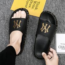 夏季拖鞋男潮流室外男士沙滩一字拖时尚个姓凉拖韩版休闲外穿凉鞋