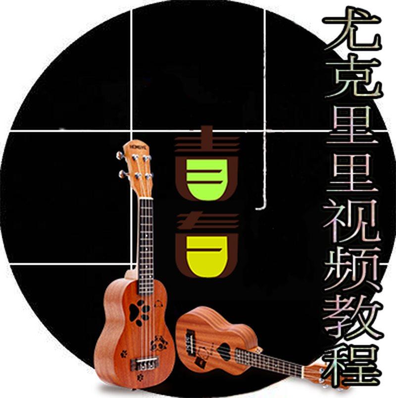 尤克里里教程视频初学者入门教学指弹独奏自学零基础教材书籍曲谱