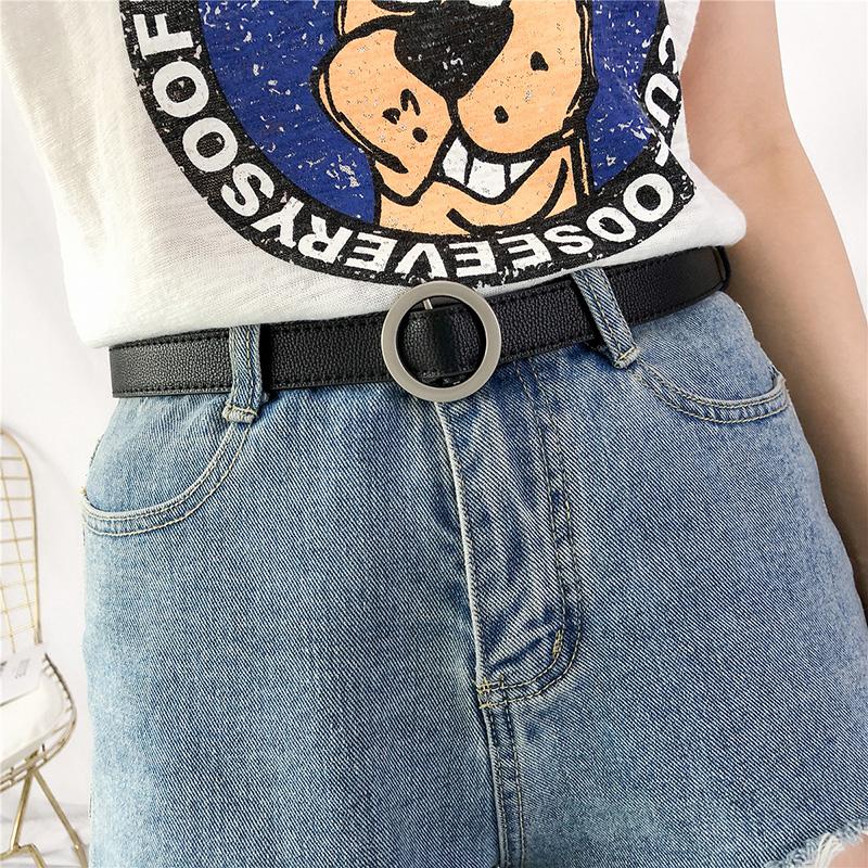 小皮带男年轻人潮人青年韩版窄潮流个性ins风牛仔裤带裤腰带女细