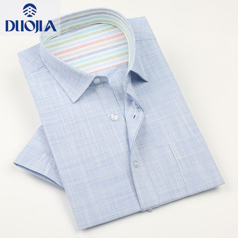 Duojia summer new linen shirt mens short sleeve thin mens casual half sleeve cotton linen shirt 200074