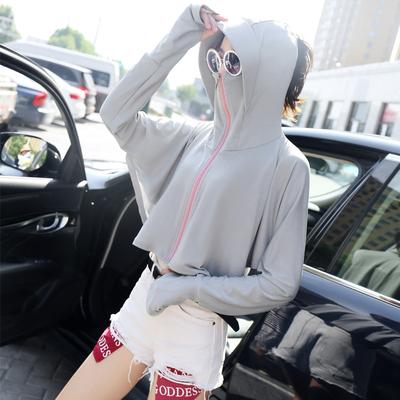 防晒衣女2019新款短款披肩连帽防紫外线薄款夏开车骑车防晒衫斗篷