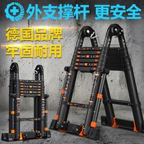 幫爾高鋁合金伸縮梯加厚單面直梯折疊一字梯升降工程梯便攜家用梯