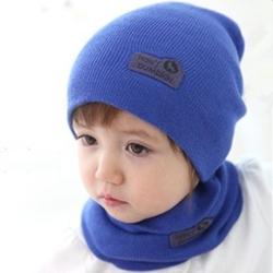 婴幼儿童帽子围巾套装秋冬季宝宝毛线帽韩版潮男童女童帽1-2-4岁