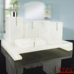树脂欧式简约浴室<span class=H>卫浴</span>五件套创意洗漱漱口杯牙刷架牙具<span class=H>用品</span>套装件