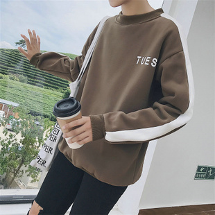 Hit the color of autumn and winter thick turtleneck sweater men fertilizer to increase code loose coat Korean teenagers trend clothes