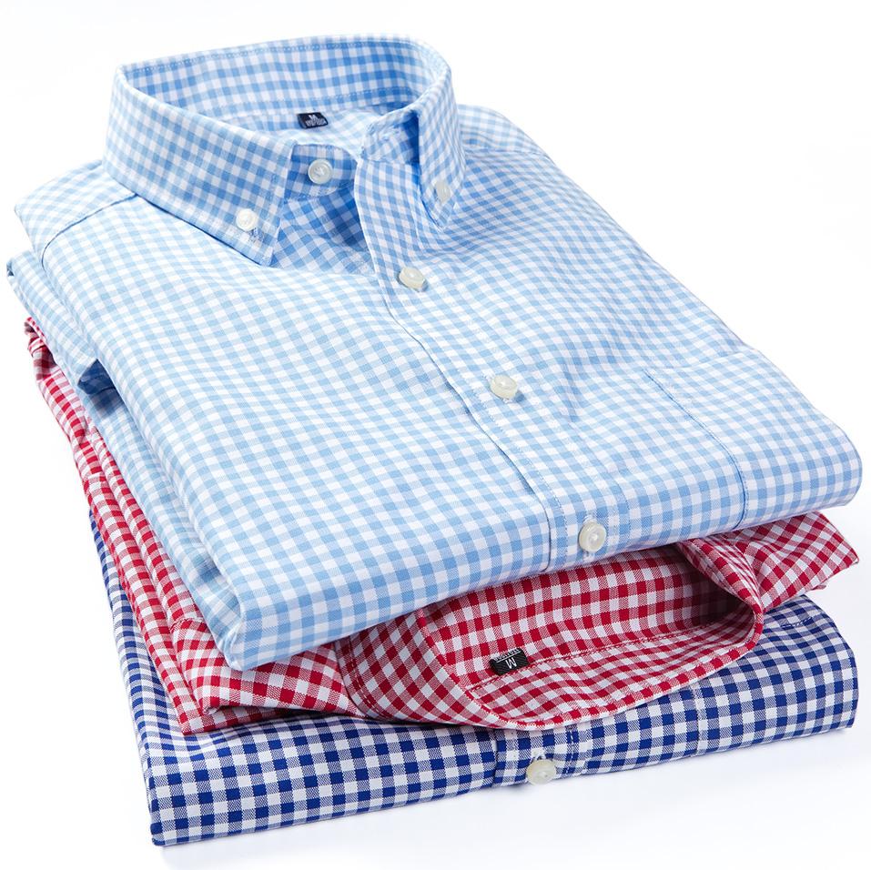 男小格子长袖衬衫