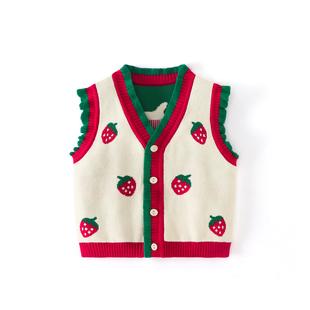 婴儿毛衣背心婴儿男童女童针织马甲秋冬男女宝宝坎肩小童毛线马夹