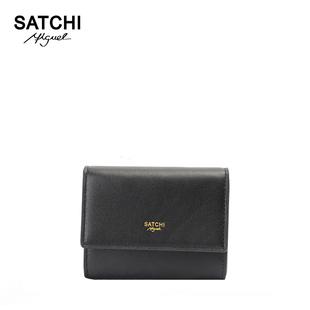 Satchi/沙驰冬季新品纯色女士短款钱包 零钱包 短款钱夹