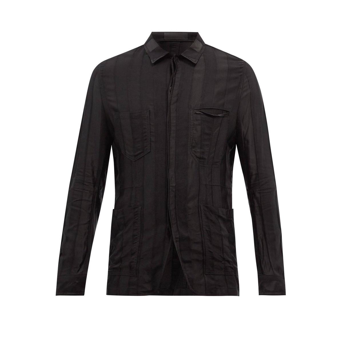 Buy Haider Ackermann Satin Stripe twill shirt style clothing mens 2021 new classic
