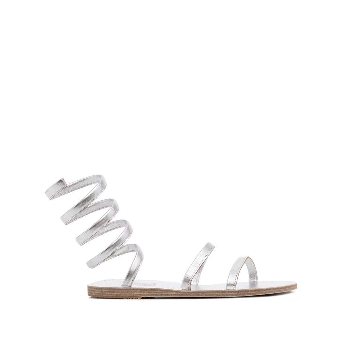 代购Ancient Greek Sandals Ofis 金属感裹踝带凉鞋2021新款简单