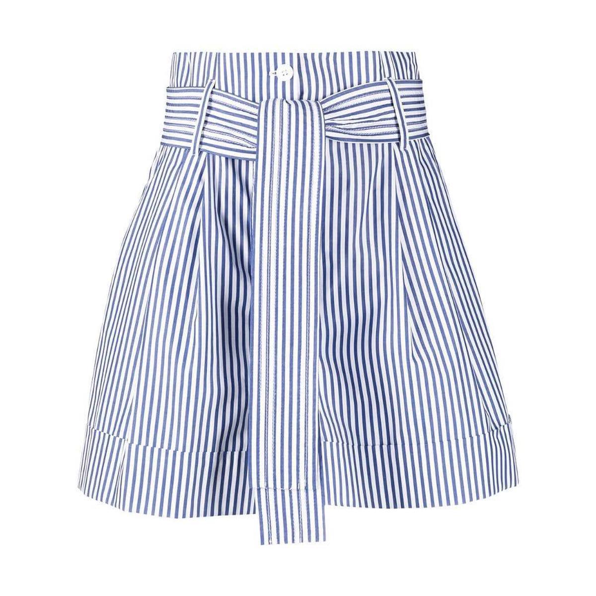 代购Parosh 条纹束腰短裤女2021新款奢侈品