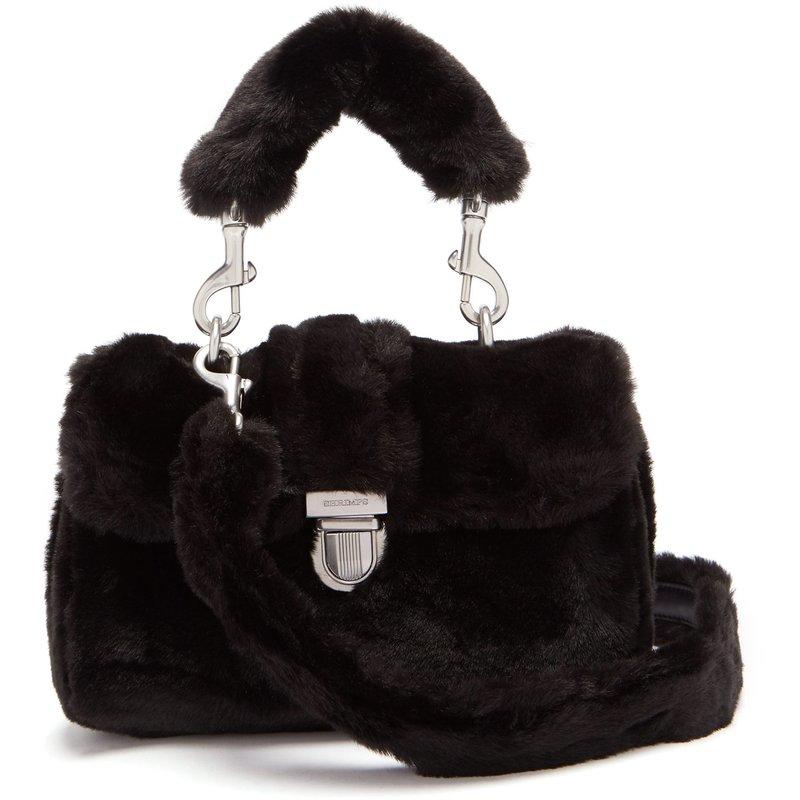 包税代购2018 Shrimps 女士  迷你人造皮草手袋手提包手提包