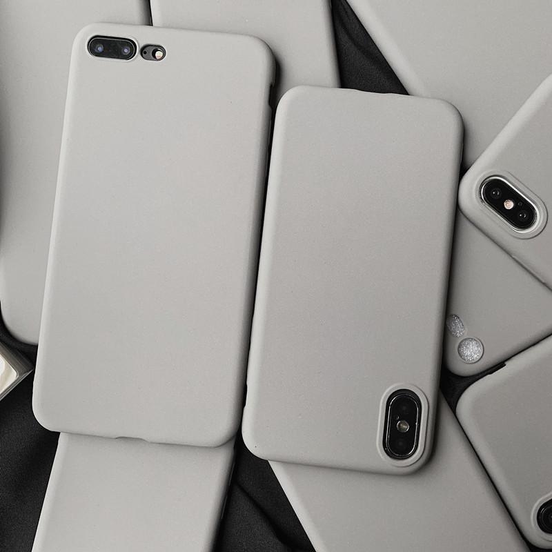 冷淡风纯色简约灰色小米8se手机壳8青春版男女款6x/5x防摔mix2s磨砂max3/note3软壳套mix2s全包5s/5c