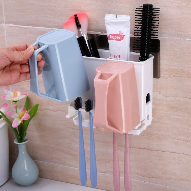 牙刷置物架简约漱口杯牙刷杯情侣牙刷架洗漱套装双人牙杯壁挂收纳,可领取1元天猫优惠券