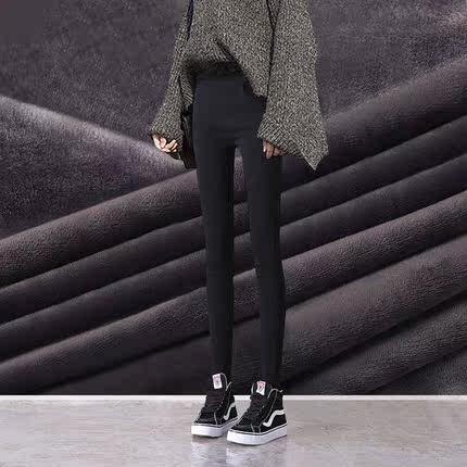 打底裤女加厚秋冬2018新款韩版显瘦黑色高腰小脚铅笔魔术加绒外穿