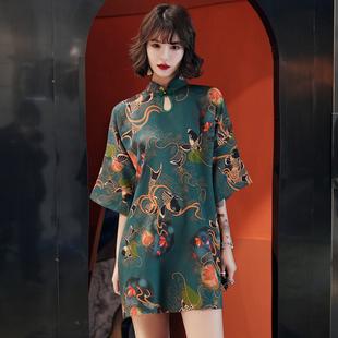 宽松版旗袍年轻款少女2020春夏新复古中国风改良版新式连衣裙优雅
