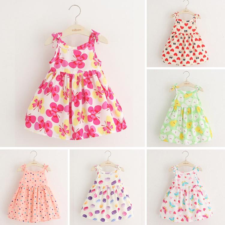 Девочки платье лето 2017 ребятишки дети девушка юбка милый жилет юбка ребенок цветочный юбка
