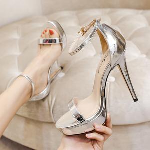 春夏季2021新款百搭细跟高跟女鞋