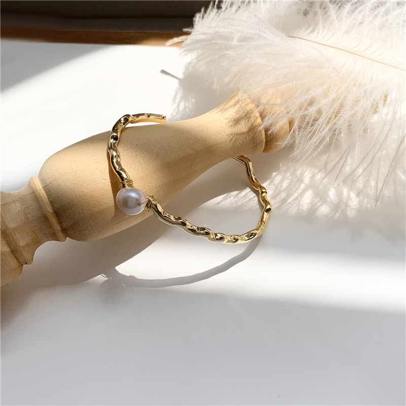 Aifeni Korea East Gate simple high sense natural pearl bracelet Mori super fairy girl bracelet Jewelry