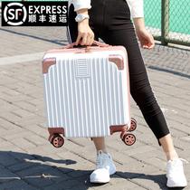 密码箱男小型迷你旅行箱皮箱子登机拉杆箱20寸18轻便行李箱女小号