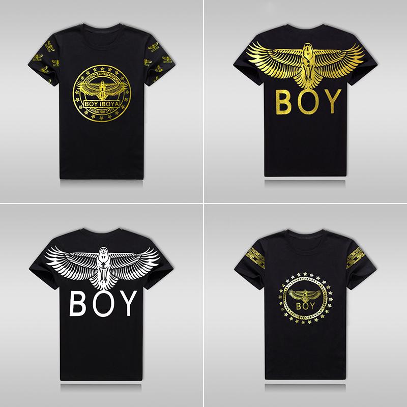 2018夏季新款青少年街头潮牌PW BOY短袖t恤烫金男女上衣半袖T恤