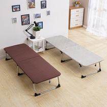 加固折叠床家用单人床双人床午睡床办公室午休床木板床简易床