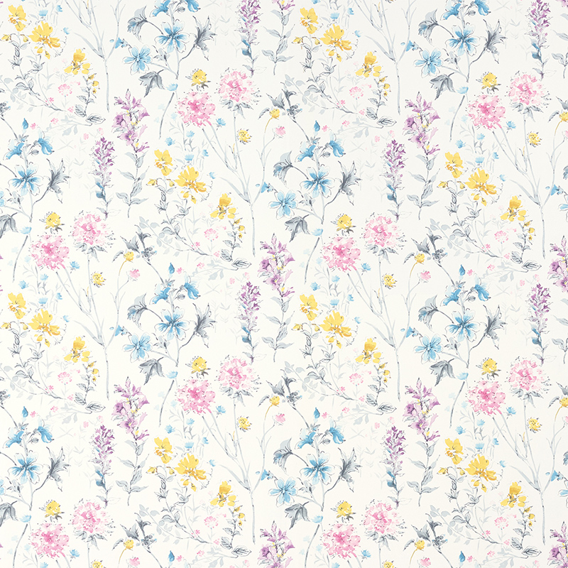 Laura Ashley Roland love field print color wallpaper living room bedroom wallpaper background wall paper