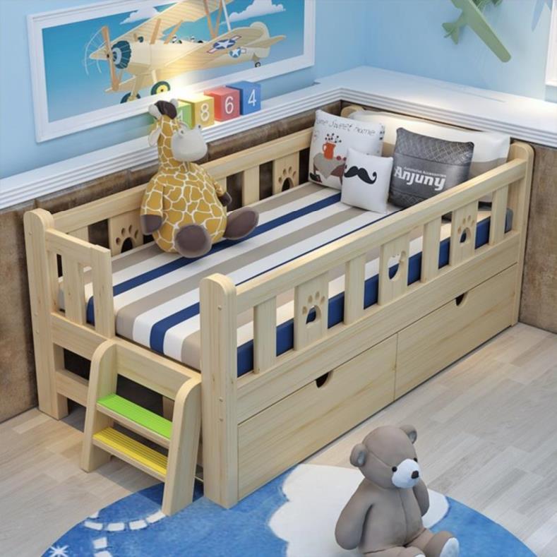 一米合并实木女孩加宽家用儿童床