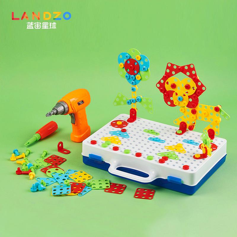 宝宝动手拆装拧螺丝益智玩具螺母组合儿童立体拼装智力动物拼图