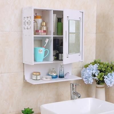 免打孔卫生间柜镜浴室镜柜洗漱台洗手间宿舍挂墙式壁挂置物架镜子