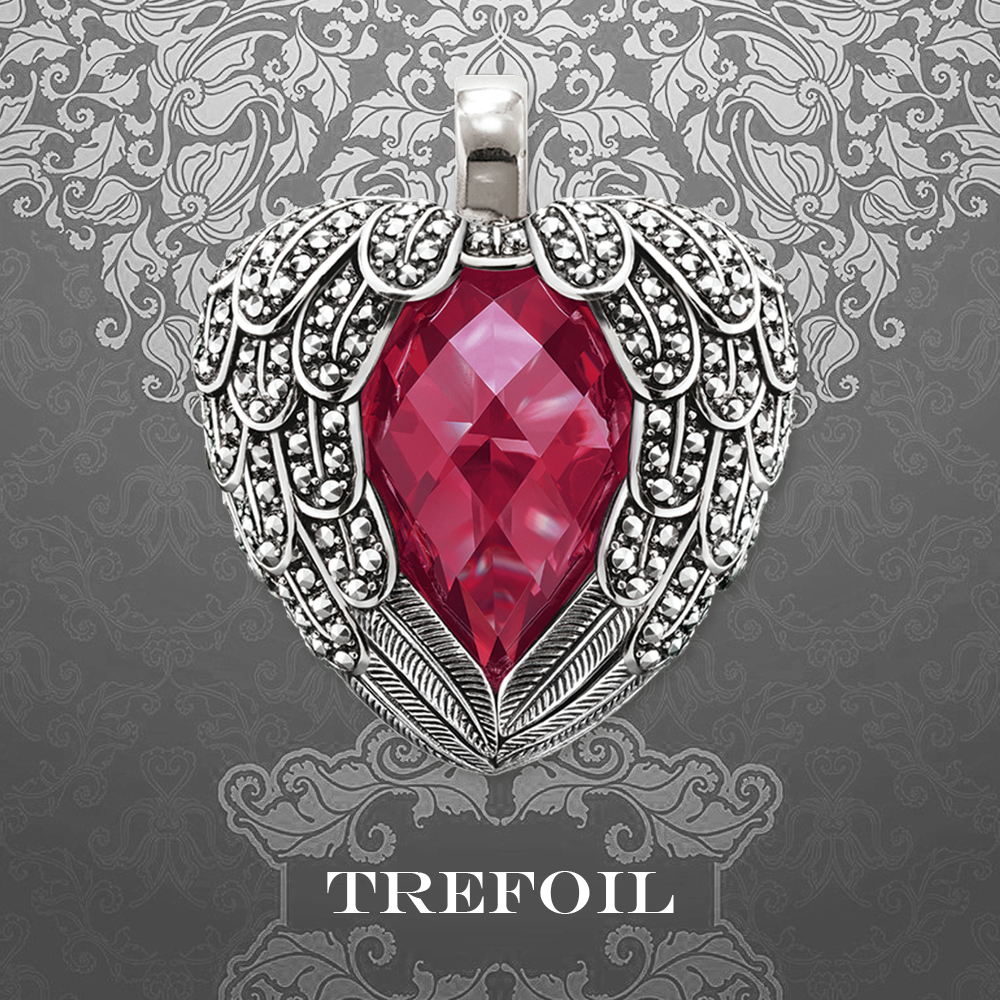 Winged heart-shaped red Pendant Fashion Jewelry romantic female gift suitable for hanging Necklace