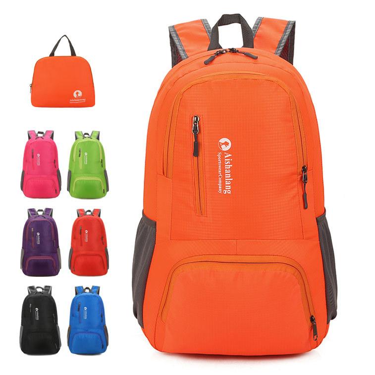 Custom made foldable large capacity travel bag mens and womens ultra light storage bag mens outdoor sports backpack skin bag