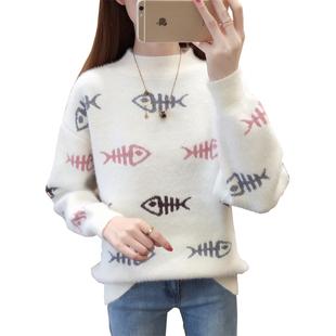 甜美可愛秋冬少女裝學生高中初中女孩套頭大童12-15-18歲打底毛衣