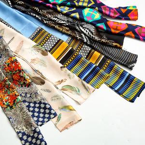 领3元券购买春秋季百搭长细窄韩国装饰文艺丝巾