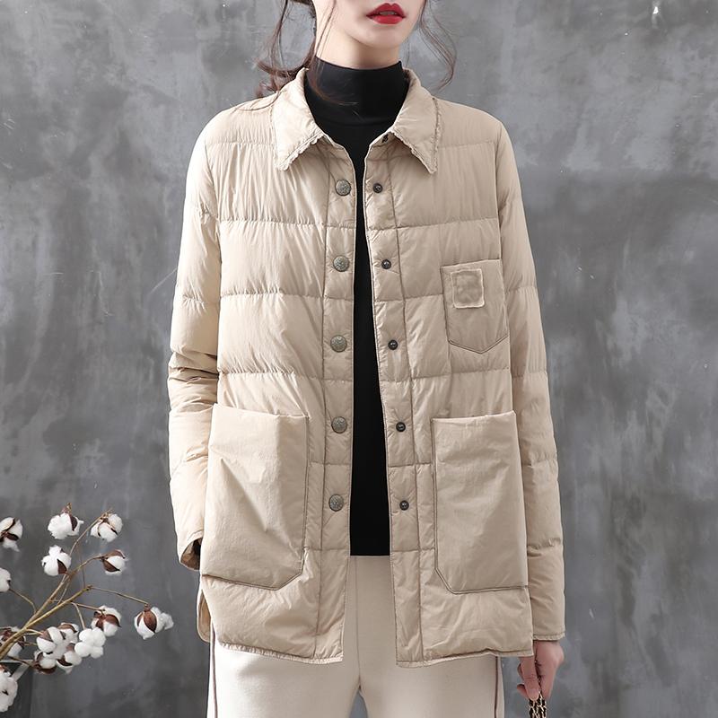 羽绣自制复古纯色轻薄冬季白鸭绒质量怎么样