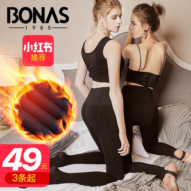 宝娜斯1985丝袜女秋冬款高腰肉色光腿神器女超自然加绒加厚打底裤