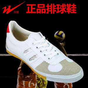 正品双星排球鞋牛筋底训练鞋武术锻炼运动帆布鞋男女跑步鞋网鞋