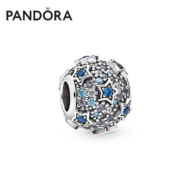 798467C01银串饰925é密镶Pav潘多拉官网星形浮雕Pandora