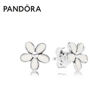 Pandora Pandora treasures Daisy 925 Tremella nails 290538EN12 temperament Jewelry Earrings