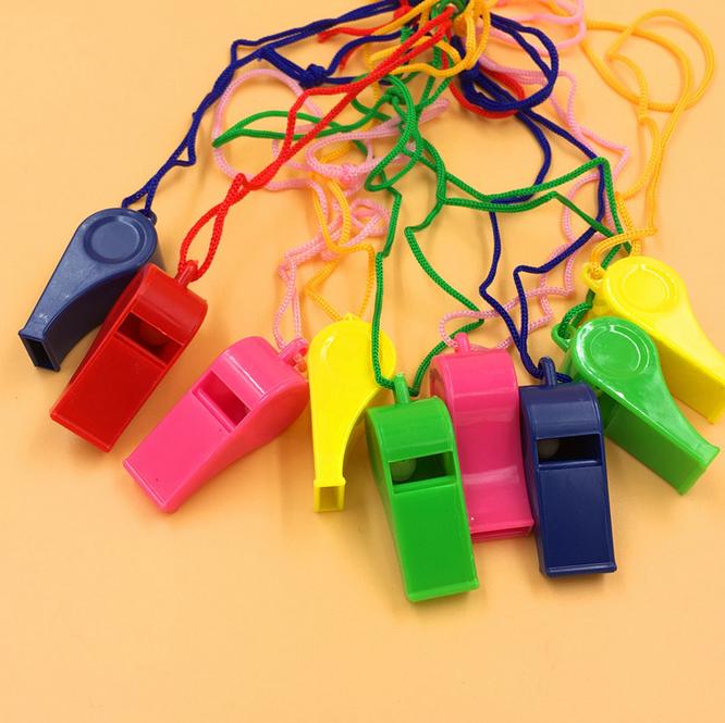 彩色塑料口哨 裁判球迷口哨 救援口哨小礼品礼物厂家儿童玩具哨子