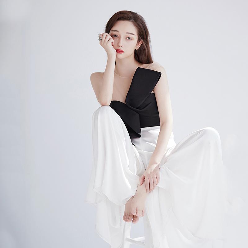 晚礼服女2018新款宴会主持人聚会晚宴生日派对连衣裙年会时尚走秀