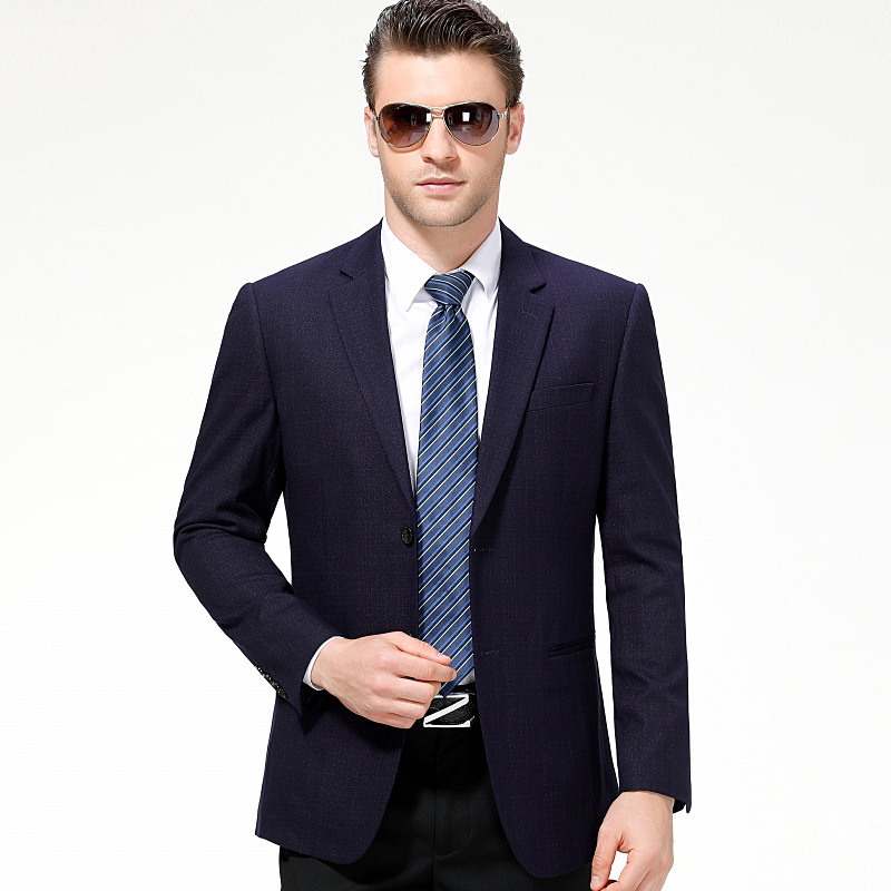 Crazy rush spring mens suit business leisure small middle-aged fathers single suit coat mens coat spring and Autumn