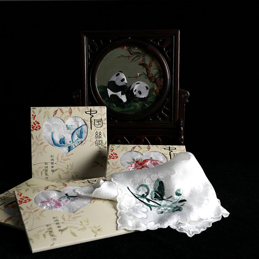 Золото закат река сянцзян вышивать исключительно вручную вышивка продвинутый шелк полотенце предплечье носовой платок из страна подарок ремесла статья собирать статья