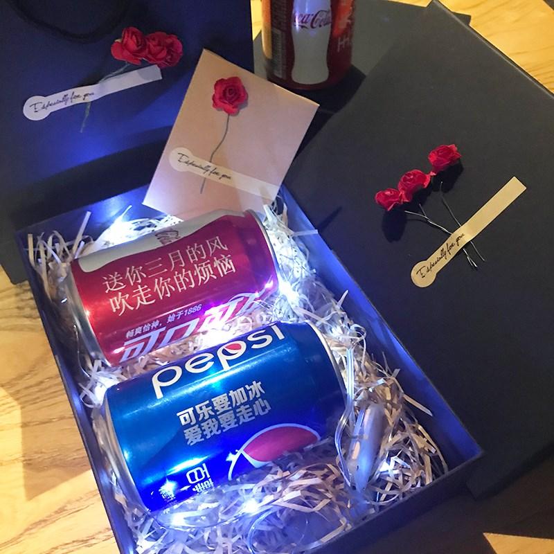 可口可乐百事可乐易拉罐定制名字生日礼物祝福语小礼品瓶身刻名字