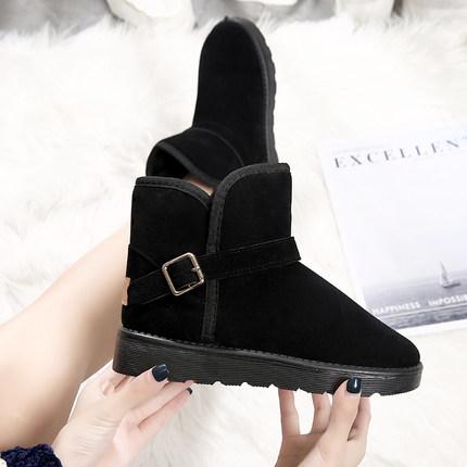 雪地靴女2019冬季新款时尚百搭短靴加绒加厚学生短筒靴子保暖棉鞋