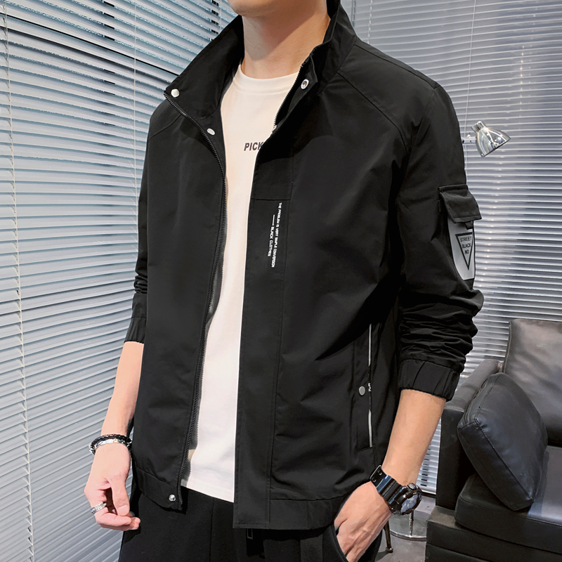 Mens coat 2020 new spring and autumn Korean fashion cool clothes student jacket leisure spring coat